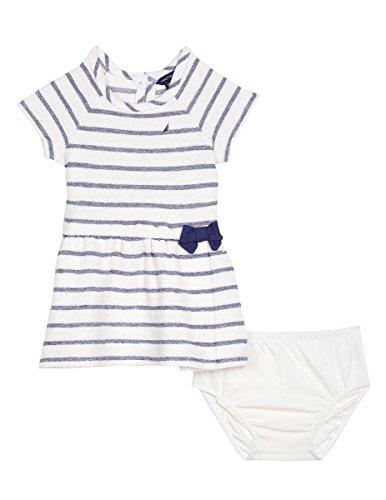 (Nautica Baby Girls' Stripe Terry Dress, Cream, 24 Months)