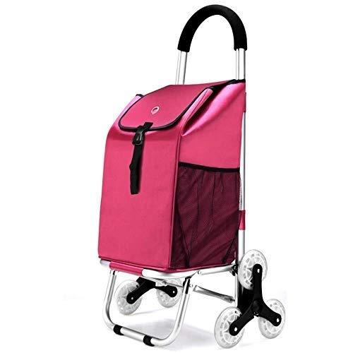 ショッピングカート 買い物袋アルミ合金の軽量の折り畳み式旅行食料品買い物のトロリー箱防水市場動かされた買物車袋大容量40L B07S7TRJ82