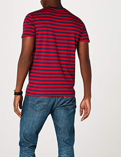 Sunset Levi's shirt Set Red Stripe T Dress Pocket 0039 Blues Chinese Homme cooler Bleu Ss in nxRYWBxt