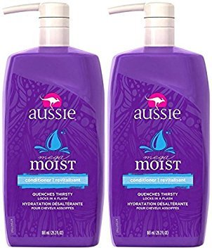 Aussie Mega Moist Conditioner 29.2 oz (Pack of 2) ()