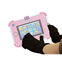 DURAGADGET Comfy Touch Screen Gloves (Medium) for VTech InnoTab 3S with Rechargeable Battery Pack (Pink)