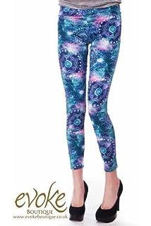 12e2a1b4b8a55a Ladies Leggings in Black Velvet Flock: Amazon.co.uk: Clothing