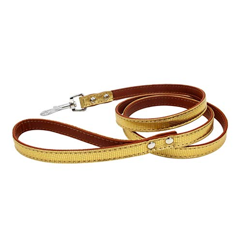 - Yinrunx Pet Leash Collar Accessories Traction Rope Serpentine PU Leather Harness for Safe Walking