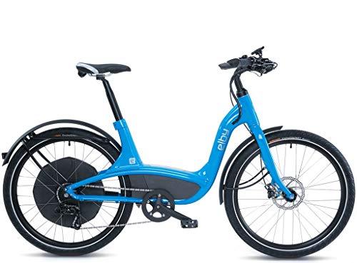 "Elby Bike 9 Speed Electric Bike, Blue, 16.5""/One Size"
