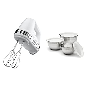 amazon com cuisinart hm 70 hand mixer with stainless steel mixing