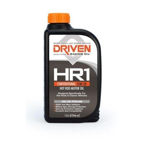 Joe Gibbs Driven Racing Oil 02107 HR-1 15W-50 Conventional Hot Rod Oil - 1 Quart Bottle, Case of 12