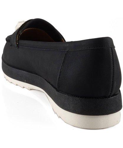 Moccasin Flat Round Black Toe Qupid 05 Tassel Sheldon xCqXwYfRH