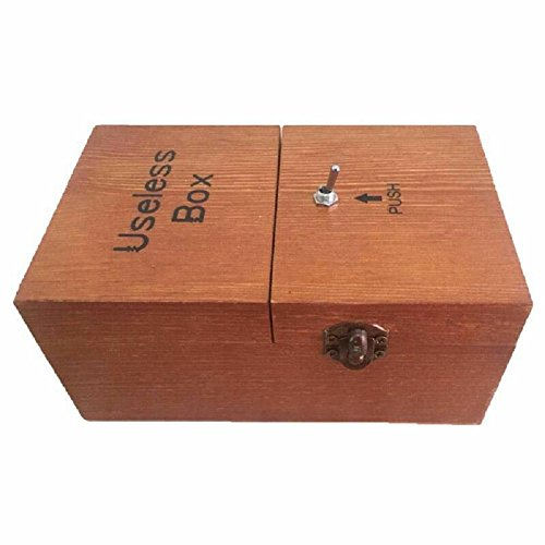 Woolve Useless Box Turns Itself Off Storage Box Creative Festival Gift gor your Friends,Lovers and Kinsfolks (Dark Brown Plus -