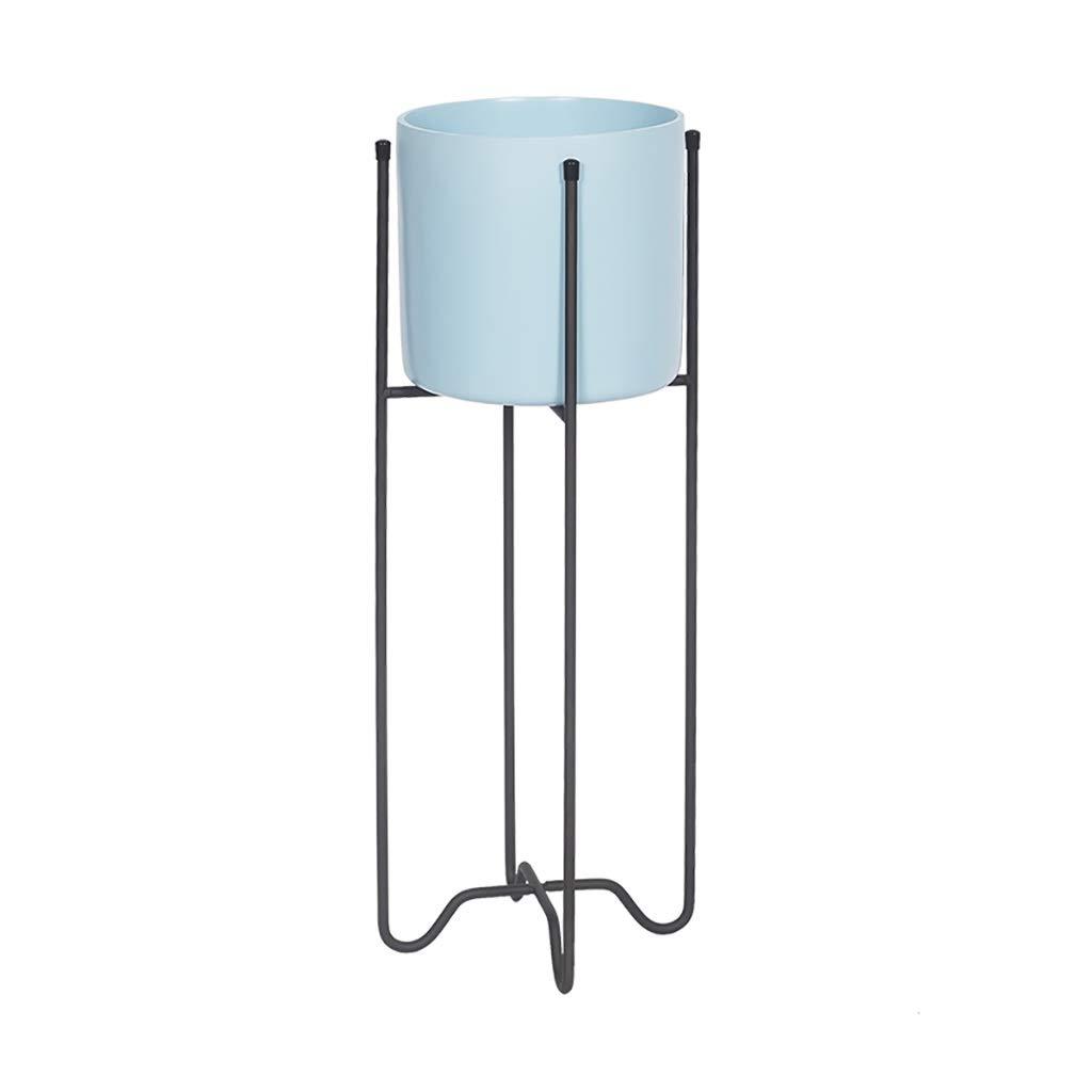 Nordic Flower Stand Creative Living Room Interior Floor Pot Rack Metal Flower Stand (Color : B, Size : 19.550)
