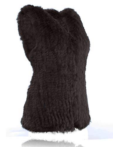 Vest Heizzi Coconut Del Brown Coniglio 100 Pelliccia Della Maglia xqxOAZ
