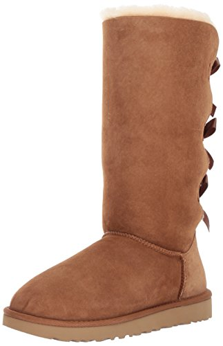 UGG Women's Bailey Bow Tall II, Chestnut, 9 M US ()