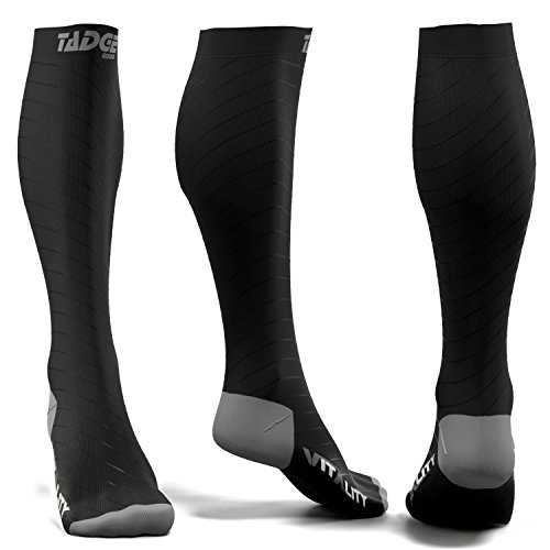 (Compression Socks for Men & Women (20-30 mmhg) - Best Graduated Pressure Stocking, Support Circulation Socks   Athletic Fit For Running, Nurses, Shin Splints, Maternity Pregnancy, Flight Travel)