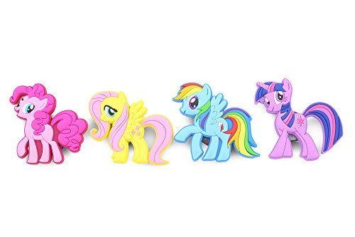 Pony Magnet (Finex - Set of 4 LARGE - My Little Pony Refrigerator Magnets Fridge Magnet Set for Locker - Rainbow Dash Pinkie Pie Fluttershy Twilight Sparkle)