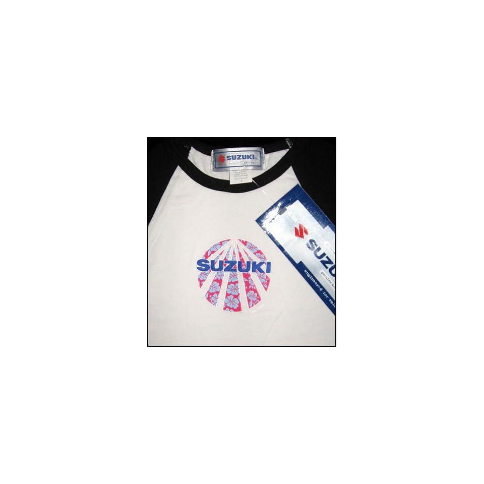 SUZUKI Motorcycle Racing Women's Ladies Long Sleeved T Shirt Shirt SMALL