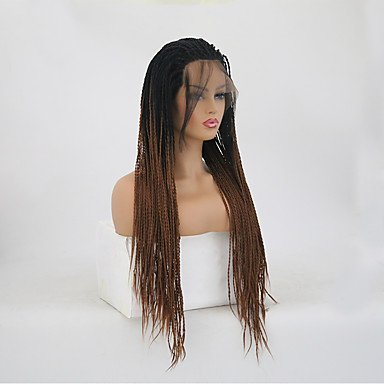 Amazon.com: Wigs Twist Braids/Synthetic Lace Front Matte Braid Synthetic Hair Heat Resistant Dark Brown Womens Long Lace Front, 22Inch: Sports & Outdoors