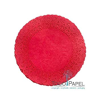 8 25 Pack Stylish table decor as placemats 4 inches plate chargers at Weddings Quality Hand Dyed Scarlet Red Paper Lace Doilies 12 Party Events Bridal Showers 6 Choose from 4 10