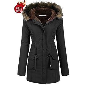 ffe52e71a6a Beyove Womens Military Hooded Warm Winter Faux Fur Lined Parkas Anroaks  Long Coats