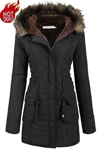 - Beyove Womens Military Hooded Warm Winter Faux Fur Lined Parkas Anroaks Long Coats