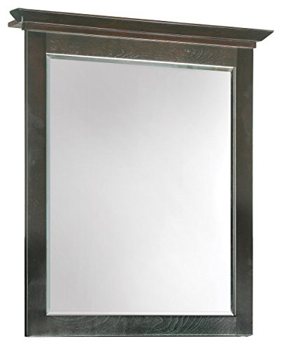 Design House 539692 26-Inch by 30-Inch Ventura Mirror with Top, Espresso - Maple Oval Mirror
