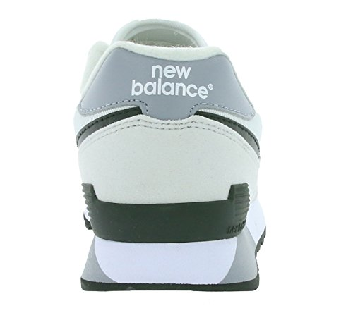 New Balance Hombre 446 capacitadores, Gris Gris / Blanco