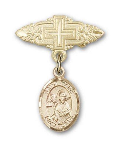 Icecarats Or Bijoux De Créateurs Rempli R. Marquer La Broche Évangéliste Badge Charme Avec Une Croix X 3/4