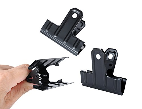 Black Large Binder Clips Bulldog Clips,2.6 Inch Wide,Pack of 12