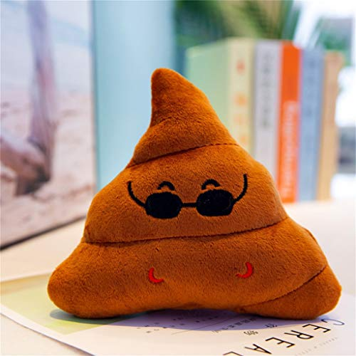 Maikouhai Plush Toy, Creative Poop Plush Doll Funny Face Funny Expression Office Table Desktop Poo Cushion Pillow for Car Seat, Bedroom, Hotel - Polyester & Cotton, Coffee (20cm)]()