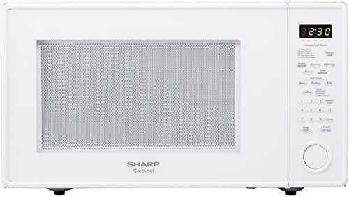 Sharp 1.8 Cu. Ft. 1100W Countertop Microwave, Microwave Oven, White