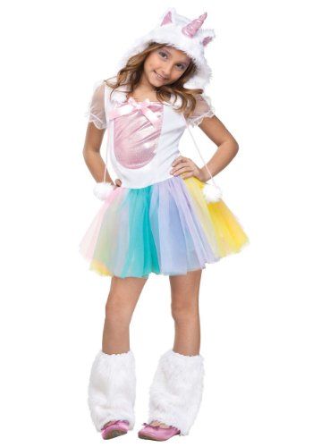 Vivid Rainbow Unicorn Kids Costume