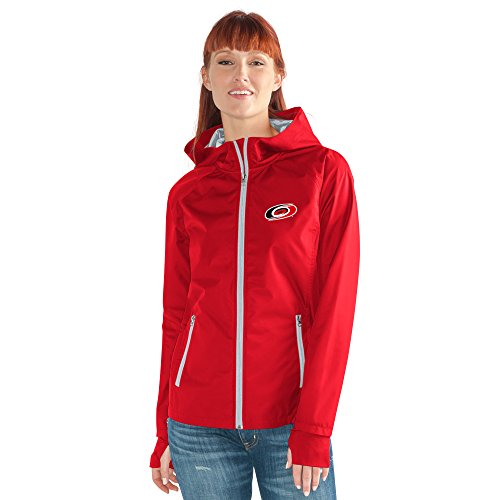 GIII For Her NHL Carolina Hurricanes Women's Onside Kick Light Weight Full Zip Jacket, X-Large, Red