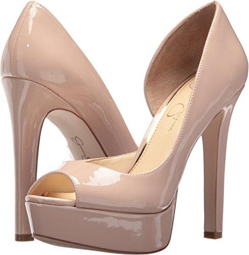 Jessica Simpson Women Martella Dress Heel, Nude Blush Pat, (7.5) (Platforms Jessica Leather)