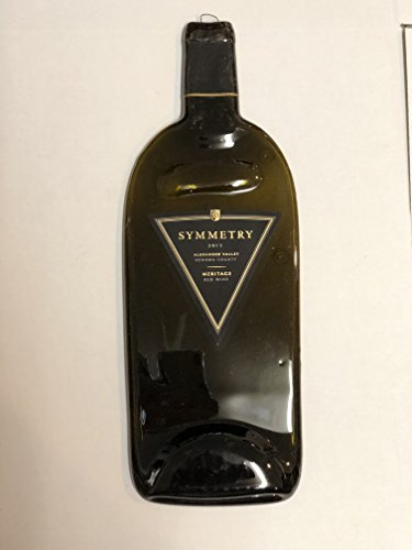 Symmetry by Rodney Strong 2013 Meritage Red Wine Magnum Melted Bottle Cheese Serving Tray - Wine Gifts