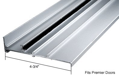 CRL Aluminum OEM Replacement Patio Door Threshold for Premier Doors; 4-3/4