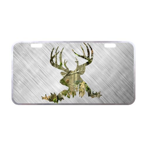 Durable And Strong Aluminum Deer Silhouette Car License Plate of Car 11.8