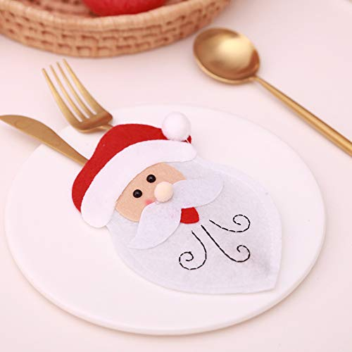 CHoppyWAVE Cutlery Pouch, Christmas Tableware Case Silverware Spoon Fork Holder Pocket Santa Dinner Decor - 1# by CHoppyWAVE (Image #4)