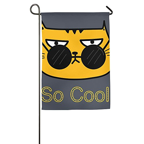 WYIZYIQA Cool Cat With Sunglasses Garden Flag Yard Decoratio