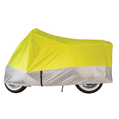 - Dowco Guardian 04822 Travel Ready Water Resistant Indoor/Outdoor Motorcycle Cover, Internal Storage Compartment: Hi -Viz, Medium, Sportbike