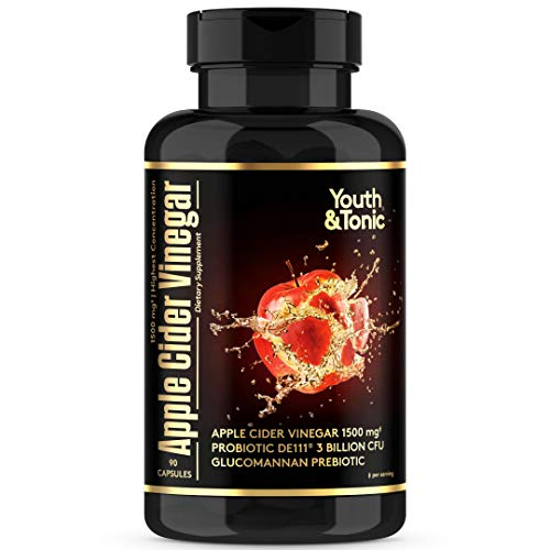 High Strength Apple Cider Vinegar Pills 2056mg  3 Bil CFU Probiotics | Cayenne Aloe Vera Glucomannan Chromium Pectin | Detox Bloating Relief Digestion Regularity Weight Management |90 Vegan Capsules best to buy