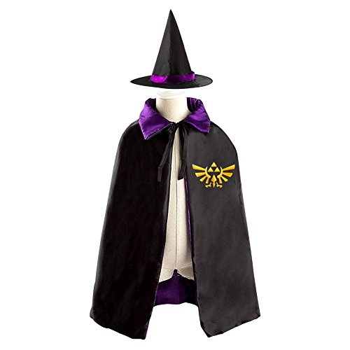 [Children The Legend of Zelda Logo Halloween Christmas Cloak With Hat Witch Costume Props] (Ganon Cosplay Costume)