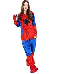 I'MQueen Unisex Cartoon Onesie Adult Pajamas Flannel Cosplay Costumes