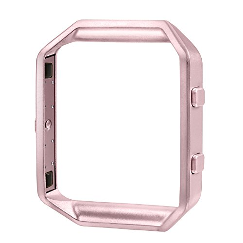 bayite Replacement Accessory Steel Frame for Fitbit Blaze Smart Watch Champagne Rose