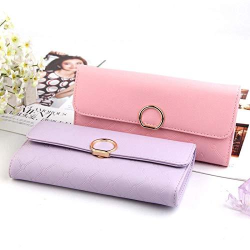 Lady Women Black PU Leather Clutch Wallet Long Card Holder Case Purse Handbag