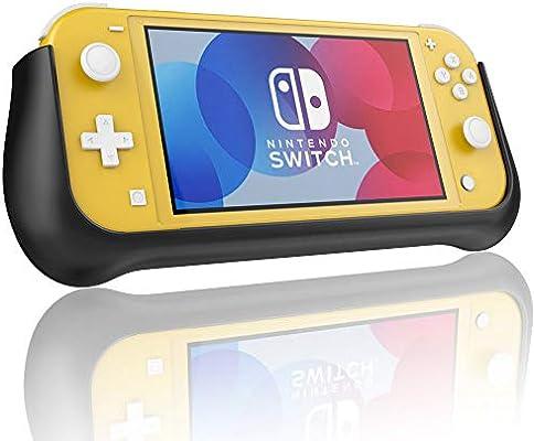 Compatible con Nintendo Switch Lite Battery Funda Batería, 10400mAh Recargable Externa Batería Pack Power Bank Backup Ultra Delgada Portátil Carga Caso de Prueba de Choque Carcasa Protector Negro: Amazon.es: Electrónica