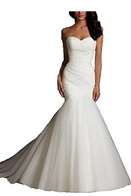 Kittybridal Women Mermaid Wedding Dresses Bridal Dress Wedding Gowns