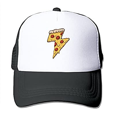 Cool Thunder Cheesy Pizza Adult Trucker Mesh Baseball Cap Hat
