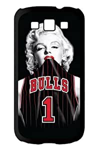Season.C Chicago Bulls Marilyn Monroe Protective Hard Back Case Cover for Samsung Galaxy S3 i9300