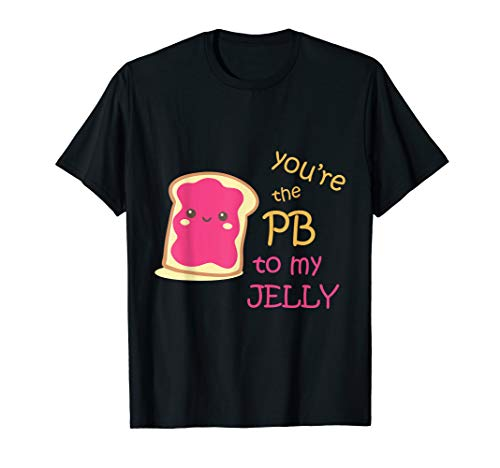 Peanut Butter and Jelly His And Hers Couple Valentines Shirt