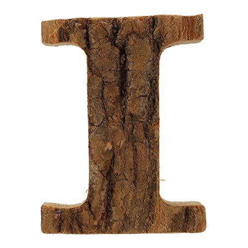VINTRESS Natural Wooden 26 Marquee Letter Alphabet Name Sign for Wedding Home Party (I)