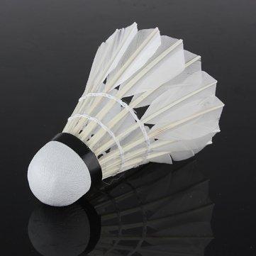 Pakhuis Alta calidad 6 x Capacitación Blanco pluma de ganso Badminton Juego de Pelota Sport