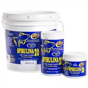 - Zoo Med Spirulina 20 Fish Food Flakes 2lbs